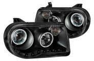 Anzo® - Black CCFL Halo Projector Headlights G2 with LEDs