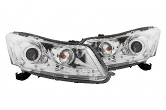 Anzo® - Chrome CCFL Halo Projector Headlights with R8 LED Style