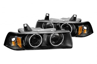 Anzo® 121267 - Black CCFL Halo Projector Headlights G2
