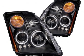 Anzo® - Black CCFL Halo Projector Headlights with LEDs and Amber Reflector