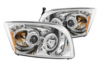 Anzo® - Chrome CCFL Halo Projector Headlights with LEDs and Amber Reflector