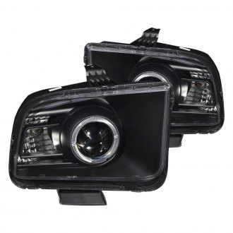 Anzo® - Black Halo 2010 Style Projector Headlights with LEDs