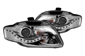 Anzo® - Chrome Halo Projector Headlights with R8 Style LEDs