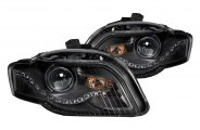 Anzo® - Black Halo Projector Headlights with R8 Style LEDs