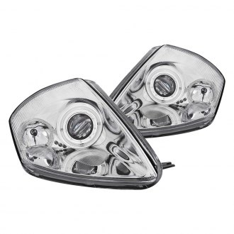 Anzo® - Chrome Dual Halo Projector Headlights with LEDs