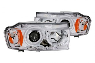 Anzo® - Chrome Halo Projector Headlights with LEDs and Amber Reflector G2