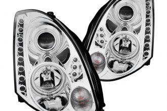 Anzo® - Chrome CCFL Halo Headlights with LEDs