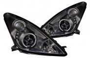 Anzo® - Black Halo Projector Headlights with LEDs