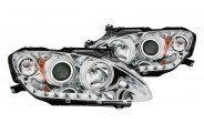 Anzo® - Chrome CCFL Halo Projector Headlights with LEDs