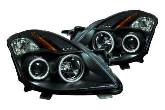 Anzo® - Black CCFL Halo Projector Headlights with LEDs