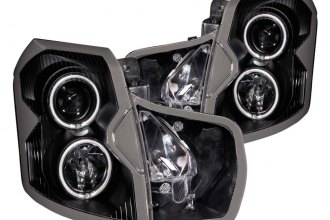 Anzo® 121417 - Black CCFL Halo Projector Headlights