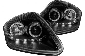 Anzo® - Black Halo Projector Headlights with R8 LED Style