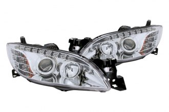 Anzo® - Chrome Projector Headlights with LEDs