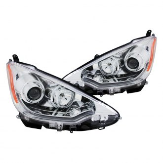Anzo® - Chrome Plank Style Projector Headlights