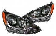 Anzo® - Black Plank Style Projector Headlights