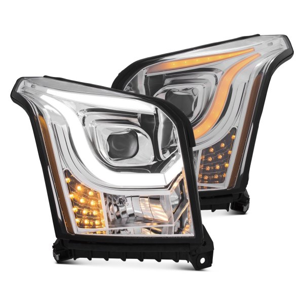 Anzo® - U-Bar Style Black Projector Headlights