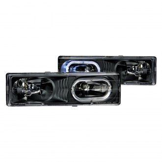 Anzo® - Black Halo Euro LED Headlights