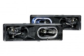 Anzo® - Black Halo Euro Headlights