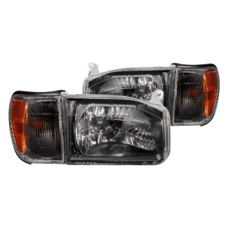 Anzo Black Euro Headlights With Corner Lights
