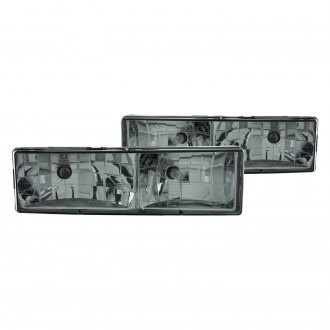 Anzo® - Chrome/Smoke Euro Headlights