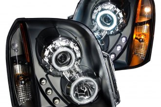 Anzo® - Black CCFL Halo Projector Headlights with Parking LEDs