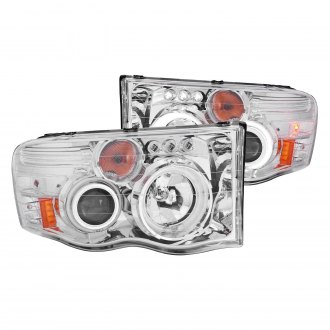 Anzo® - Chrome Halo Projector Headlights with Parking LEDs