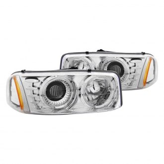 Anzo® - Chrome Halo Projector LED Headlights
