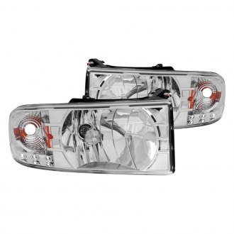 Anzo® - Chrome Euro LED Headlights with Amber Reflector