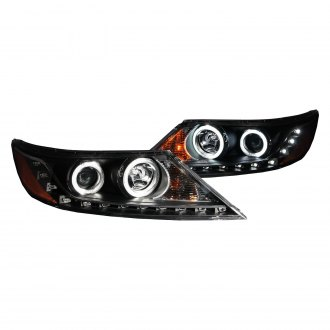 Anzo® - Black CCFL Halo Projector LED Headlights