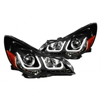 Anzo® - Black U-Bar™ Projector Headlights with LED Turn Signal