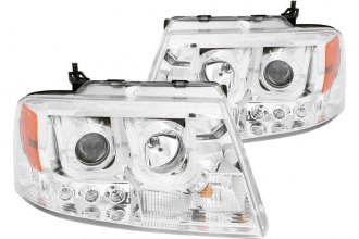 Anzo® - Chrome U-Bar™ Projector Headlights with LED DRL