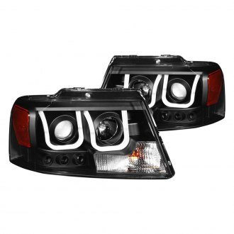 Anzo® - Black U-Bar™ Projector Headlights with LED DRL