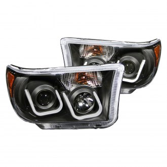 Anzo® - Black LED U-Bar™ Projector Headlights