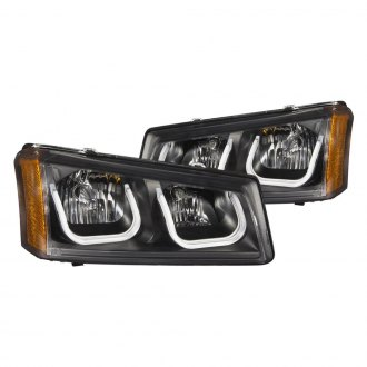 Anzo® - Black LED U-Bar™ Headlights