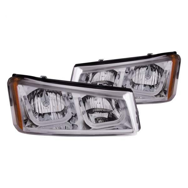 Anzo® - Chrome LED U-Bar Headlights