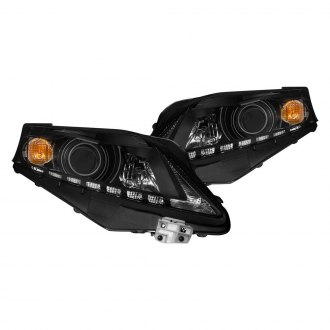 Anzo® - Black Projector Headlights with Parking LEDs