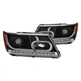 Anzo® - Black DRL Bar Halo Projector LED Headlights