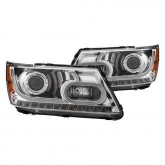 Anzo® - Chrome DRL Bar Halo Projector LED Headlights