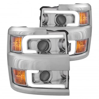 Anzo® - Chrome LED U-Bar Projector Headlights