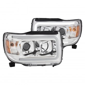Anzo Chrome Led U Bar Projector Headlights
