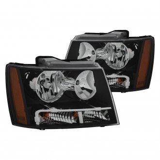 Anzo® - Black Euro Headlights with Amber Reflector