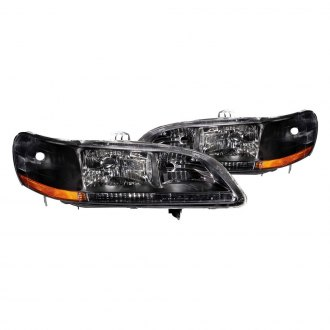 Anzo® - Black Euro LED Headlights