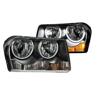 Anzo® - Black CCFL Halo Euro Headlights