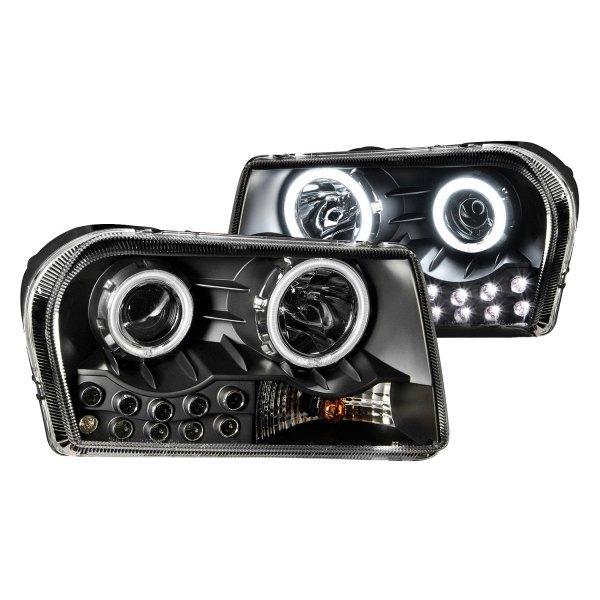 anzo chrysler 300 2006 black ccfl halo projector led. Black Bedroom Furniture Sets. Home Design Ideas