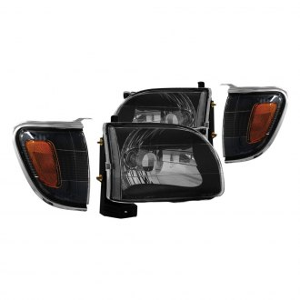 Anzo® - Black Euro Headlights with Corner Lights