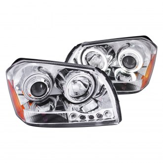 Anzo® - Chrome CCFL Halo Projector LED Headlights
