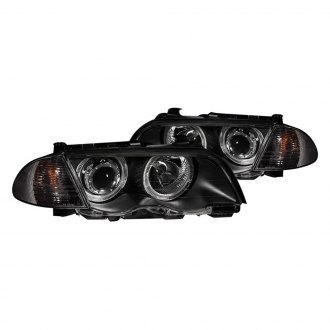 Anzo® - Black Halo Projector LED Headlights with Corner Lights