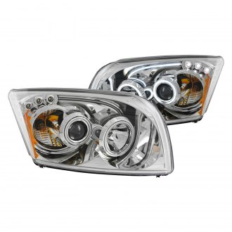 Anzo® - Chrome CCFL Halo Projector LED Headlights with Amber Reflector