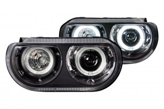 Anzo® - Black CCFL Dual Halo Projector LED Headlights