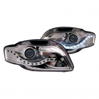 Anzo® - Chrome Projector Headlights with R8 Style LEDs